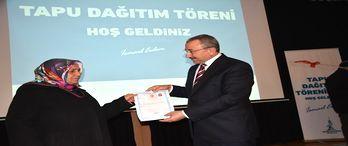 Sancaktepe'de 177 tapu teslim edildi