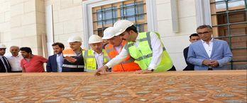 Bakanı Kurum Çamlıca Camii'nde incelemelerde bulundu