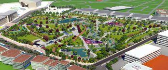 TOKİ'nin Millet Bahçesi çalışmaları sürüyor