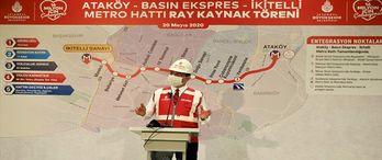 İkitelli-Ataköy metrosunda rayların döşenmesi başladı