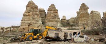 Kapadokya'da bütün kaçak yapılar yıkıldı