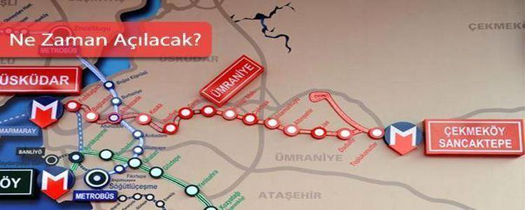 Çekmeköy Metro Hattı Etap Etap Açılacak