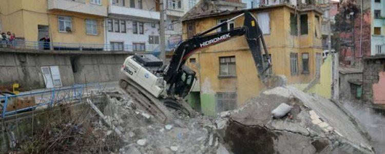 Trabzon Çömlekçi Kentsel Dönüşüm Projesi Yıkımlarında Sona Gelindi