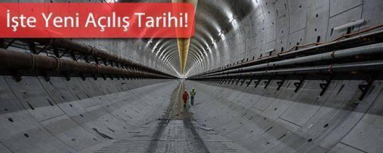 Avrasya Tüneli'nin Açılışı Öne Alındı