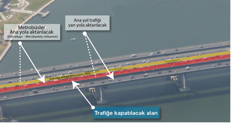 Haliç Köprüsü Metrobüs Yolu Bakıma Alınıyor!