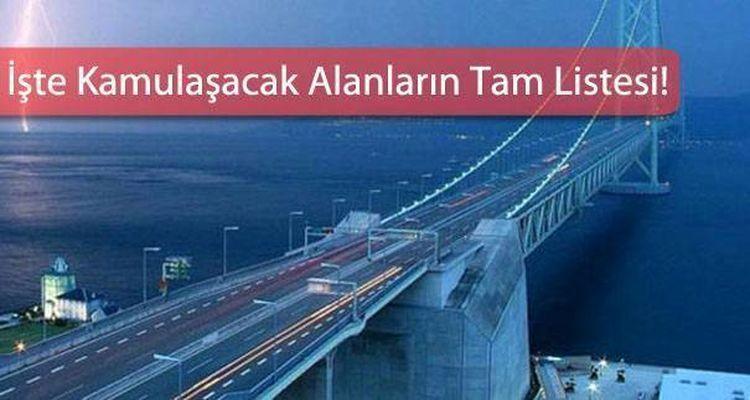 Gebze Orhangazi İzmir Otoyolu Projesinde Acele Kamulaştırma Kararı!