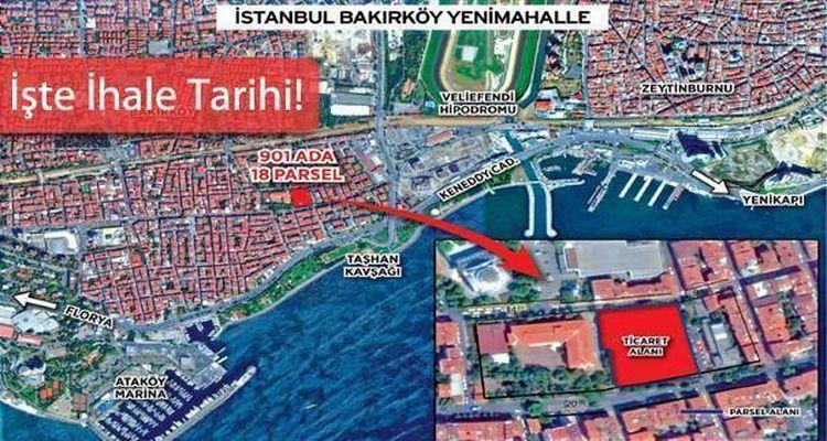 Emlak Konut Bakırköy Yenimahalle Arsasını İhaleye Çıkarıyor