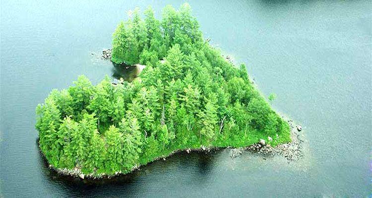 1 Milyon Dolarlık Kalp Şeklinde Ada