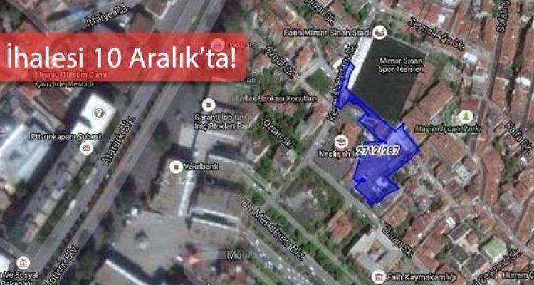 Fatih'te 130 Milyon TL'ye Satılık Arsa