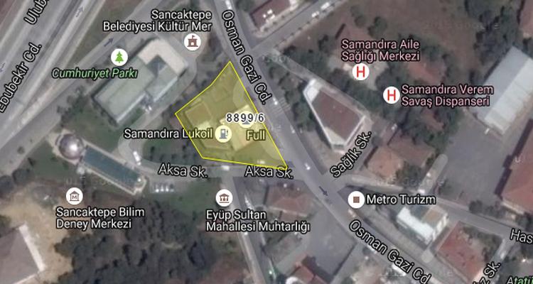 Sancaktepe'deki Akaryakıt İstasyonu İcradan Satışta