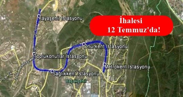 Başakşehir Kayaşehir Metro Hattı İçin Düğmeye Basıldı