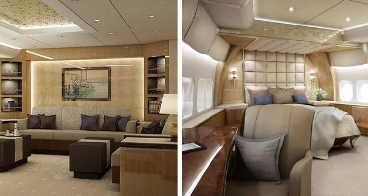 Muhteşem Dekorasyon Tasarımına Sahip Uçak