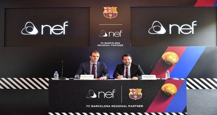 Nef Barcelona'ya Sponsor Oldu!