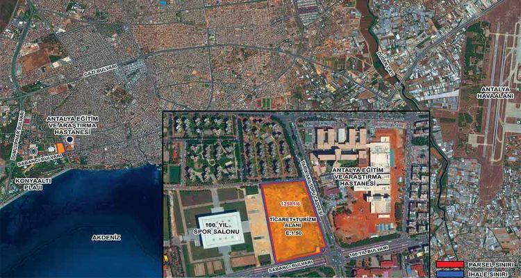 Emlak Konut Antalya Muratpaşa arsası 1 milyar 60 bin TL'ye satıldı