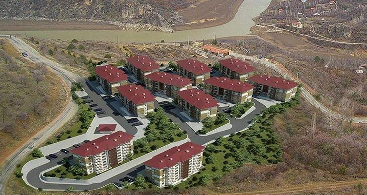 TOKİ Erzincan Kemaliye ilçesinde 146 konut yapacak