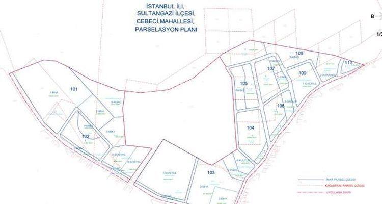 Sultangazi Cebeci ve 50. Yıl Mahallesi parselasyon planı askıya çıktı