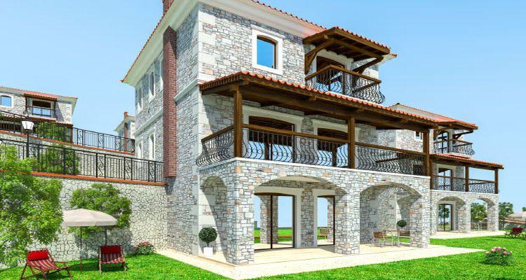 Foça Terrace Taş Evler projesi seçkin bir yaşam alanı kuruyor