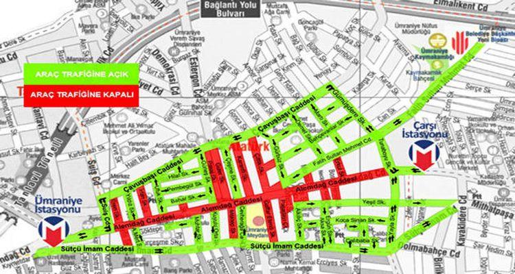 Ümraniye Alemdağ Caddesi'nde yayalaştırma projesi başlıyor