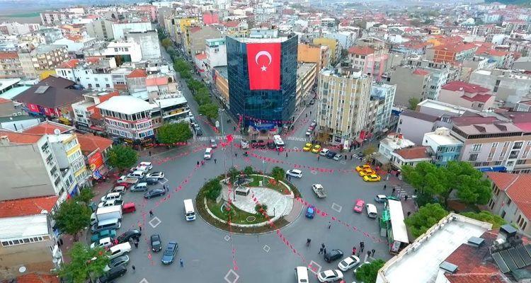 Türk Kızılayı'ndan Bursa Karacabey'e inşaat