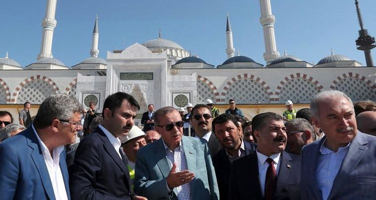 Cumhurbaşkanı Erdoğan Çamlıca Camii'ni ziyaret etti