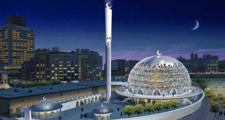 Taksim Camii'nin kaba inşaatı tamamlandı