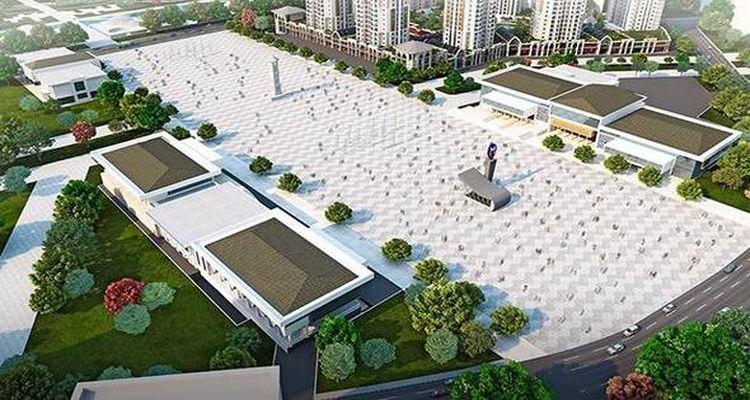 Başakşehir'de yeni kent meydanı düzenlemesi