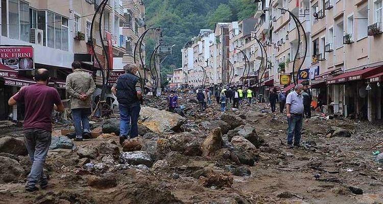 Sel felaketinin ardından Giresun'da hasar tespit çalışması başladı