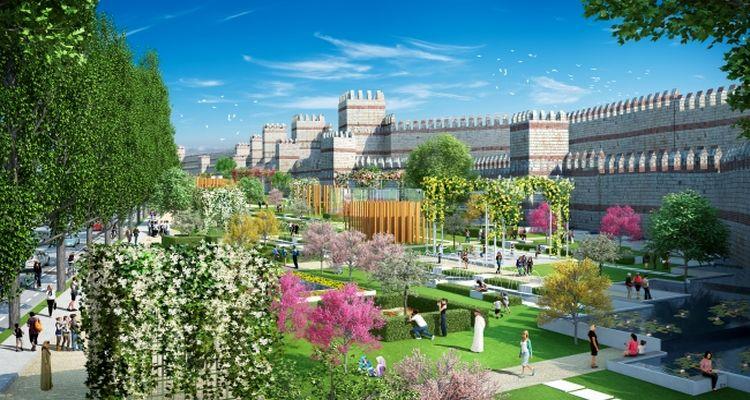 Fatih'te kurulan millet bahçesinde ilk etap tamamlandı