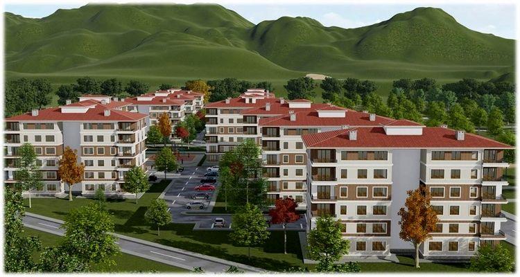 Bitlis Ahlat'ta uygun fiyatlı sosyal konutlar satışa sunuldu