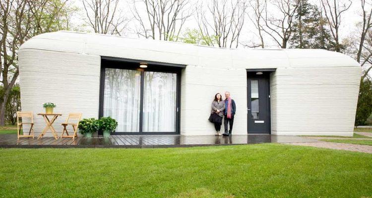 İBB'nin 3 boyutlu yazıcıyla inşa ettiği eve yoğun ilgi