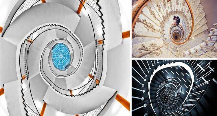 Tasarımlarıyla Baş Döndüren 25 Spiral Merdiven