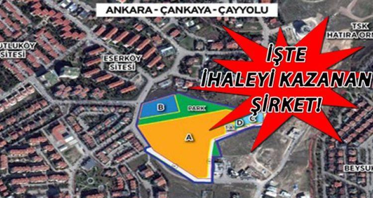 Emlak Konut Ankara Çayyolu arsa ihalesi sonucu belli oldu!