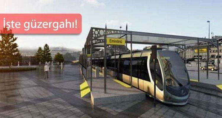 Eminönü Alibeyköy Tramvay Hattı'na Bakanlıktan Onay Çıktı