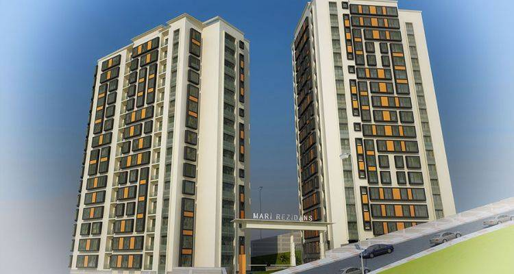 Mari Rezidans 2 Blokta 137 Konuttan Meydana Geliyor