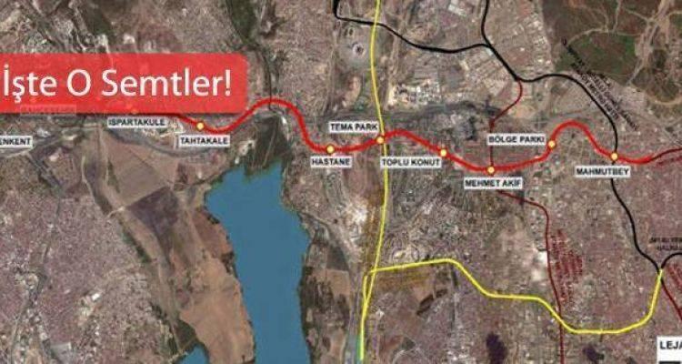 Beşiktaş Mahmutbey Metro Durakları