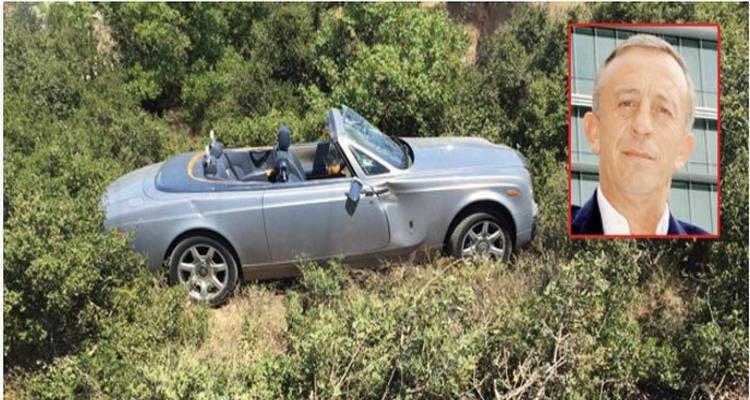 Ali Ağaoğlu'nun 800 bin Euro'luk Aracı Çalılıklara Uçtu