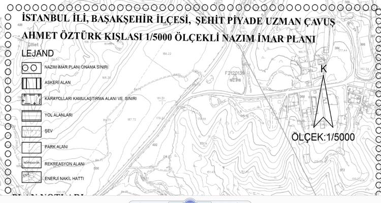 Başakşehir Şehit Piyade Çavuş Ahmet Öztürk Kışlası İmar Planı Askıda