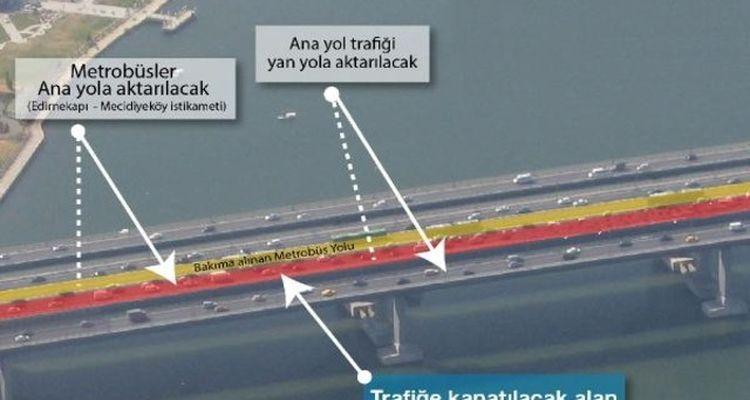 Haliç Köprüsü Metrobüs Yolu Bakımı 28 Ağustos'ta Başlıyor!