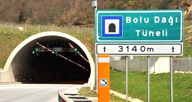 Bolu Dağı Tüneli'nin İstanbul Yönü 8 Saat Kapanacak