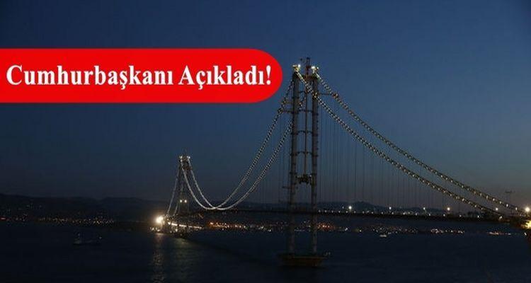 İzmit Körfez Geçiş Köprüsü'nün Adı Belli Oldu