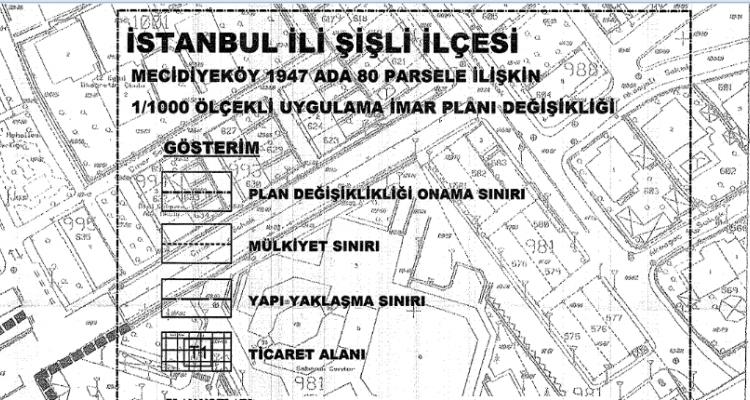 Şişli Mecidiyeköy İmar Planı Askıya Çıktı