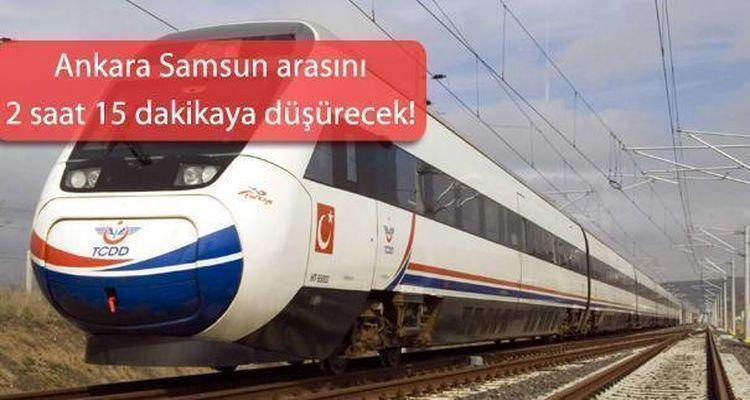 Ankara Samsun Yüksek Hızlı Tren Hattı Geliyor