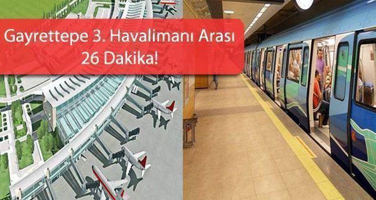 Gayrettepe 3.Havalimanı Metro Güzergahı