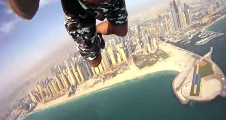 Dubai Gökdelenlerinde Heyecan Dolu Anlar