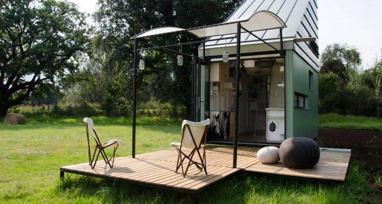 17 Metrekarelik İlginç Tasarımlı Taşınabilir Ev