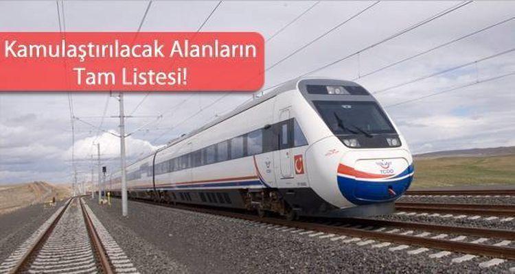 Ankara İzmir Hızlı Tren Projesi İçin Acele Kamulaştırma Kararı Çıktı