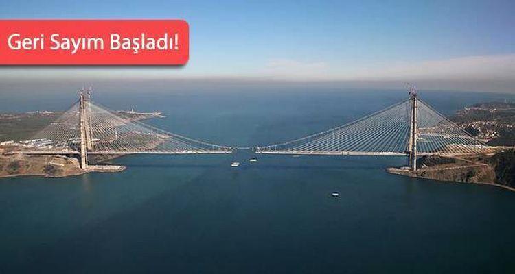 Yavuz Sultan Selim Köprüsü'nde Son 55 Metre