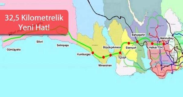 Tüyap Silivri Metro Hattı Güzergahı
