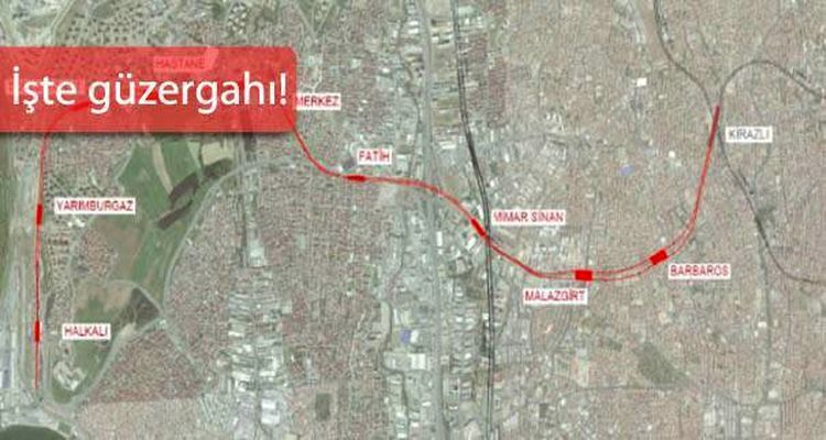 Halkalı Kirazlı Metro Hattı Bakanlıktan Geçti
