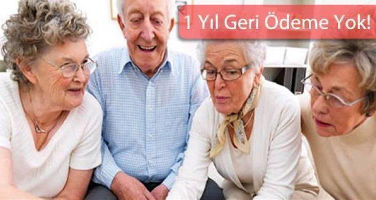 Emekliye Maaşının 10 Katına Kadar Faizsiz Kredi Müjdesi